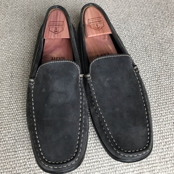 Geox Shoes   Blue Suede Loafer Sz95